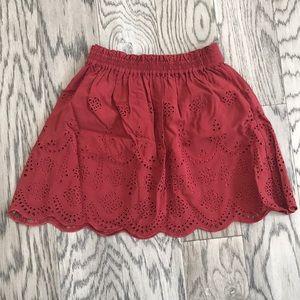 Madewell Rust Red skirt